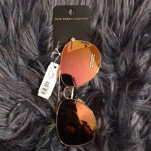 New York & Company Aviator Sunglasses